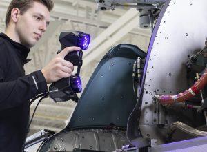 HandySCAN BLACK Elite 3D Scanner Helicopter Motor2 300x220 Creaform New 3D Scanner Showcase