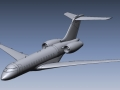 Global Express 3D CAD file from 3D Scan data