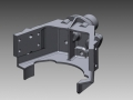 Complex aerospace bracket 3D CAD data