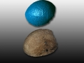 63 million year old Dinosaur egg - raw 3D scan data and texture mapping