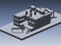 Mansion 3D CAD model for stonework fabrication