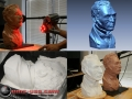 3D Scan of clay bust and 3D Printed replica