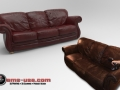 3D scan of a couch and rendered scan data.