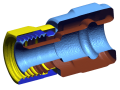 CT Scan of a connector assembly