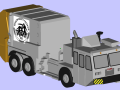 CAD model of a garbage truck ready for 3D printing
