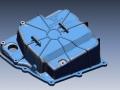 Lamborghini Huracán oilpan 3D Scan data laid over 3D CAD data
