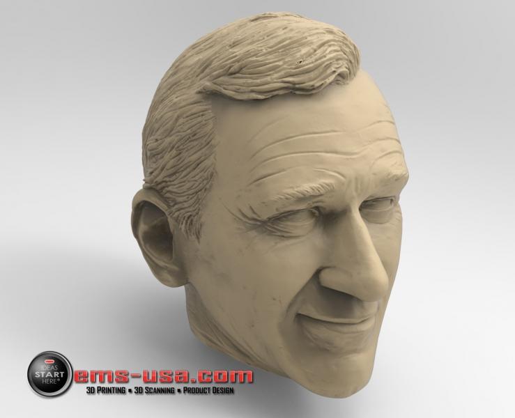 3D Scan of John Wayne sculpture rendered