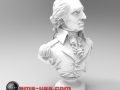 3D Scan of George Washing bust rendered