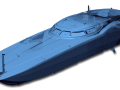 3D scan of a race boat