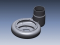 3D CAD model of volute housing