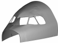 CAD model of aircraft shell from 3D scan data