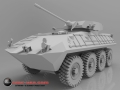 LAV with canon rendered from 3D CAD data created from 3D Scan data