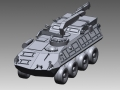 Land Assault Vehicle CAD model from 3D Scan data