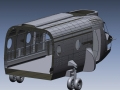 Detailed CAD model from 3D Scan data of a CH47 Helicopter