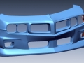 3D scan of car front fascia